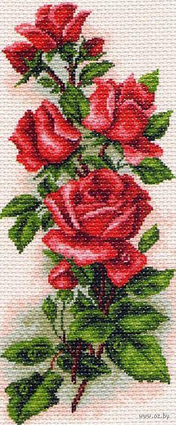 """Вышивка крестом """"Алые розы"""""""