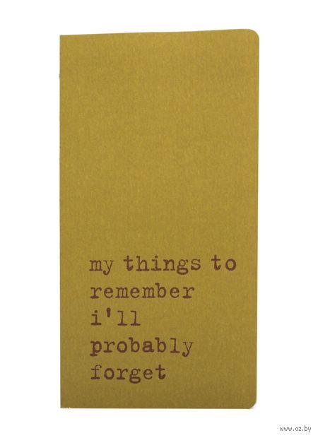 "Записная книжка Молескин ""Chapter. My Things to Remember"" в точку (карманная; мягкая зеленая обложка)"