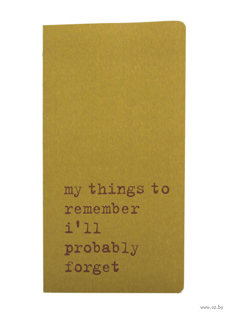 """Записная книжка в точку """"Chapter. My Things to Remember"""" (75х140 мм; зеленая)"""