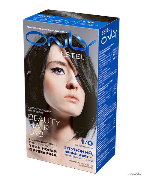 """Гель-краска для волос """"ESTEL ONLY"""" тон: 1/0, чёрный — фото, картинка"""