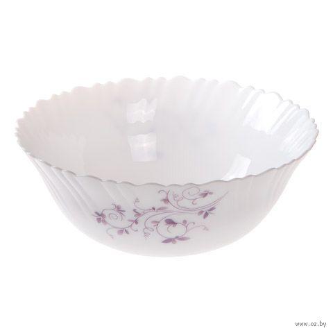 "Салатник стеклокерамический ""Пурпурное сияние"" (227 мм) — фото, картинка"