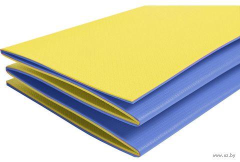 "Коврик туристический складной ""Тourist 8"" (сине-жёлтый) — фото, картинка"