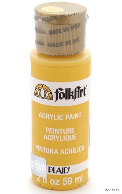 """Краска акриловая """"FolkArt. Acrylic Paint"""" (желтый школьный автобус, 59 мл; арт. PLD-00736)"""