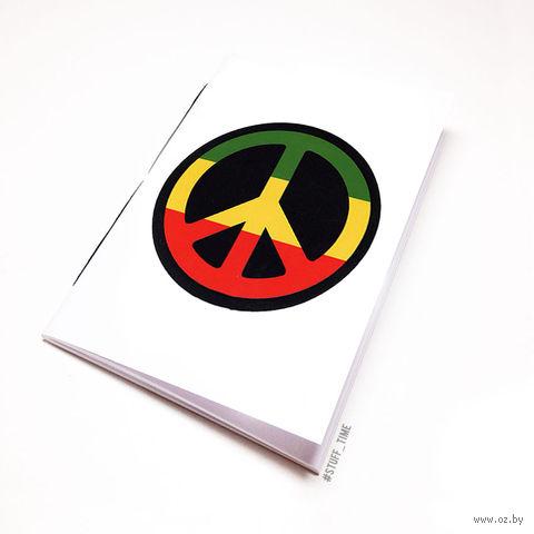 """Блокнот белый """"Peace"""" А5 (807)"""