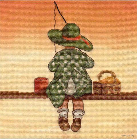 "Вышивка крестом ""Рыбалка"" (165х150 мм) — фото, картинка"