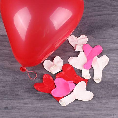 """Набор воздушных шаров """"Сердце"""" (10 шт) — фото, картинка"""