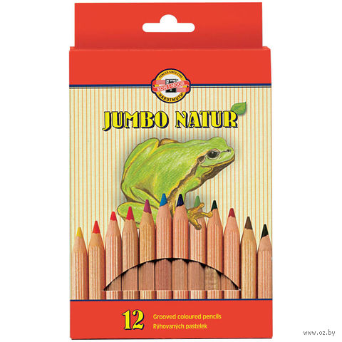 """Цветные карандаши """"Jumbo Natur"""" (12 цветов)"""
