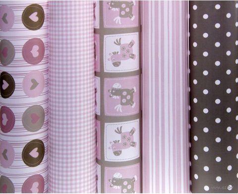 "Бумага подарочная в рулоне ""Baby rose"" (цвет: ассорти)"