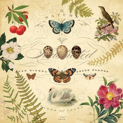 """Бумага для скрапбукинга """"Флора и фауна. Металлизированная"""" (310х310 мм; 12 листов)"""