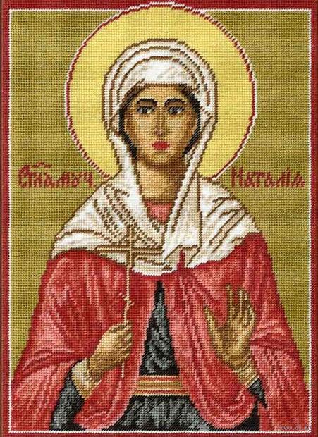 """Вышивка крестом """"Святая мученица Наталия"""""""