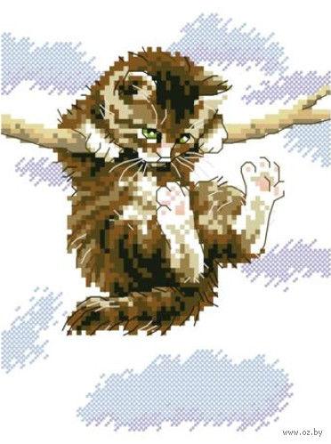 "Вышивка крестом ""Котенок"" (210x300 мм) — фото, картинка"