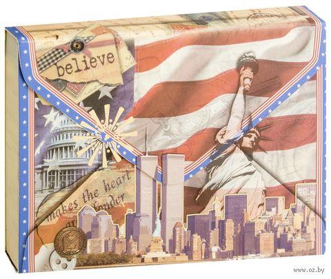 """Блокнот """"Конверт США"""" (А7) — фото, картинка"""