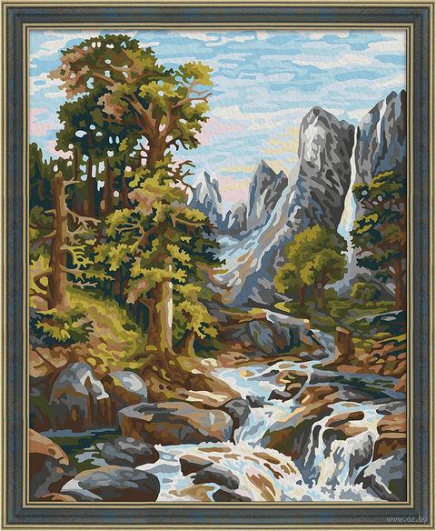 """Картина по номерам """"Горный ручей"""" (400х500 мм) — фото, картинка"""