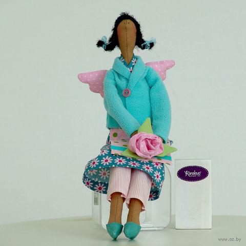 """Кукла ручной работы """"Ангел Цветов"""" (в голубом пальтишке)"""