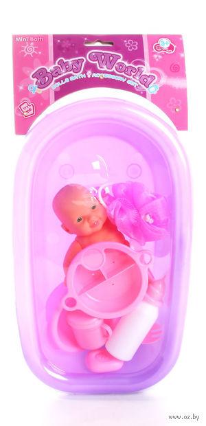 """Пупс в ванне """"Baby World"""" (арт. Д56428)"""