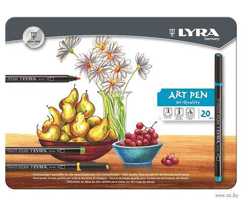 """Фломастеры """"LYRA Hi-Quality Art Pen"""" (20 цветов)"""