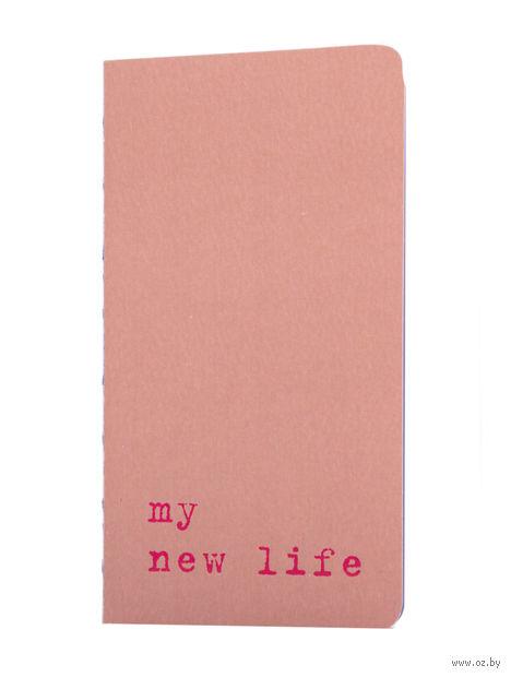 "Записная книжка в точку ""Chapter. My New Life"" (75х140 мм; розовая) — фото, картинка"
