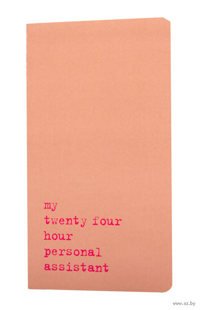 "Записная книжка в линейку ""Chapter. My Twenty Four Hour"" (115х210 мм; розовая) — фото, картинка"