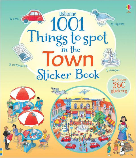 1001 Things to Spot in the Town. Sticker Book — фото, картинка