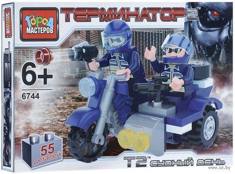 """Конструктор """"Терминатор. Мотоцикл с коляской"""" (55 деталей) — фото, картинка"""