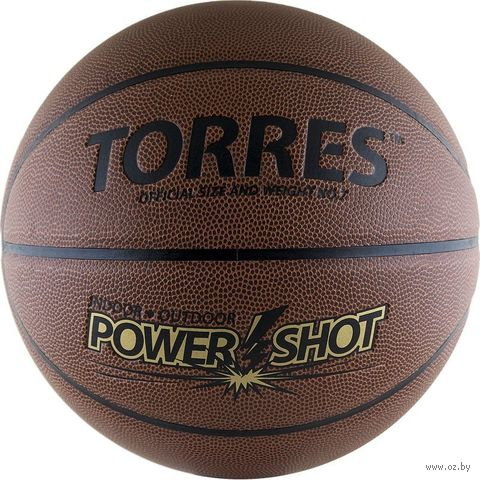 """Мяч баскетбольный Torres """"Power Shot"""" №7 — фото, картинка"""