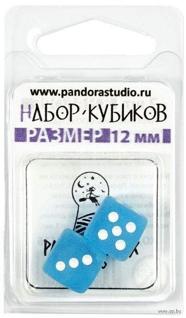 "Кубик D6 ""Изморозь"" (12 мм; 2 шт; тёмный аква) — фото, картинка"