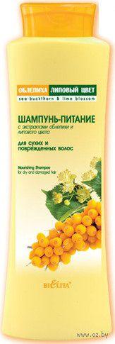 Шампунь-питание с экстрактами облепихи и липового цвета (500 мл)