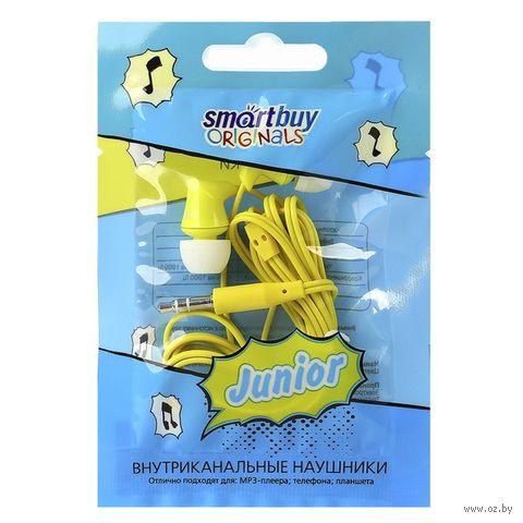 Внутриканальные наушники Smartbuy JUNIOR, желтые — фото, картинка