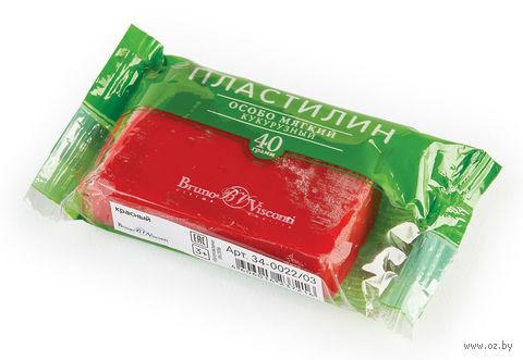 Пластилин особо мягкий кукурузный (40 г; красный) — фото, картинка