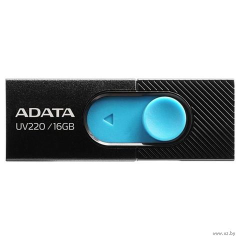 USB Flash Drive 16Gb A-Data UV220 (Black/Blue) — фото, картинка