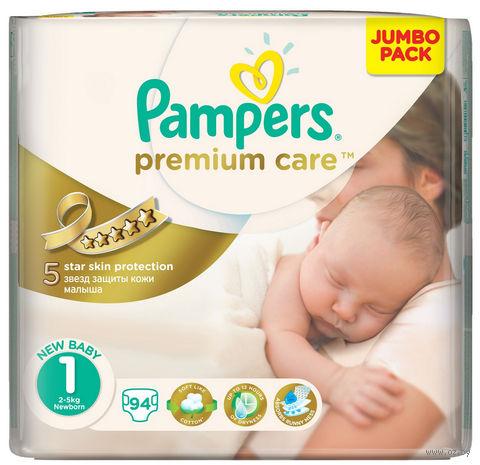 "Подгузники ""Pampers Premium Care Newborn"" (2-5 кг; 94 шт.) — фото, картинка"