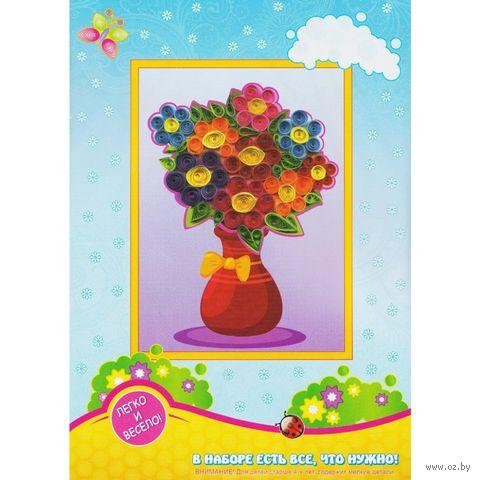 "Набор для квиллинга ""Ваза с цветами"""