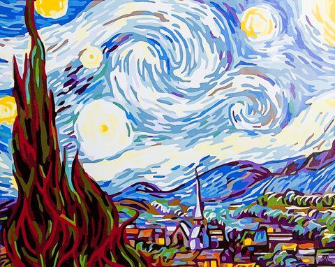 "Картина по номерам ""Звездная ночь"" (400х500 мм) — фото, картинка"