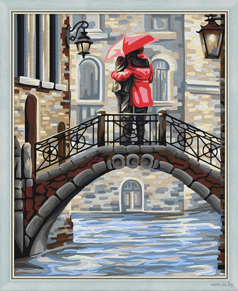"Картина по номерам ""Свидание на мосту"" (400х500 мм) — фото, картинка"