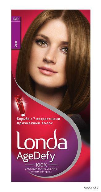 "Крем-краска для волос ""Londa AgeDefy"" тон: 6/01, орех — фото, картинка"