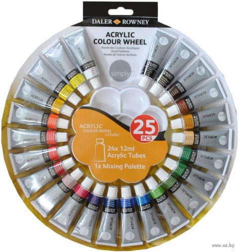 """Краски акриловые """"Color Wheel"""" (24 цвета)"""