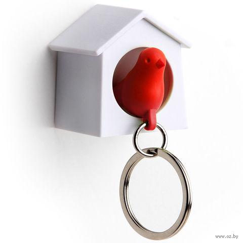 """Брелок-свисток и держатель для ключей """"Mini Sparrow"""" (красный)"""