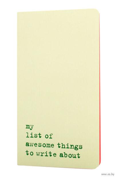 "Записная книжка в точку ""Chapter. My List of Awesome Things"" (115х210 мм; светло-зеленая) — фото, картинка"