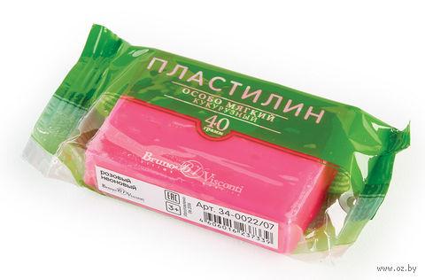 Пластилин особо мягкий кукурузный (40 г; розовый неоновый) — фото, картинка