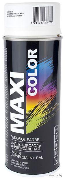 """Эмаль аэрозольная """"Maxi Color"""" (белая матовая) — фото, картинка"""