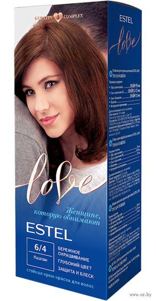 "Крем-краска для волос ""Estel Love"" (тон: 6/4, каштан) — фото, картинка"