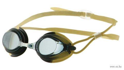 Очки для плавания (чёрно-золотые; арт. N301) — фото, картинка
