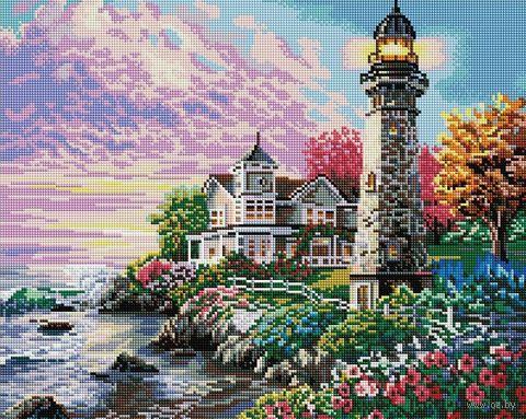 "Алмазная вышивка-мозаика ""На страже океана"" (400х500 мм) — фото, картинка"