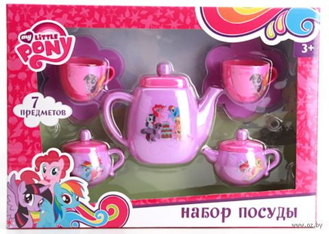 "Набор детской посуды ""My Little Pony"" (арт. B1354519-R) — фото, картинка"