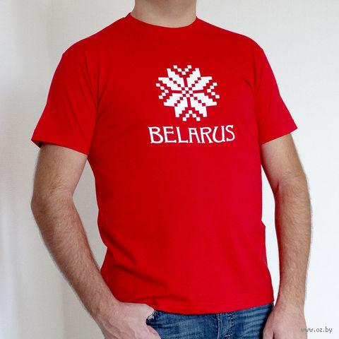 "Футболка мужская XXL ""Belarus"" (красная)"