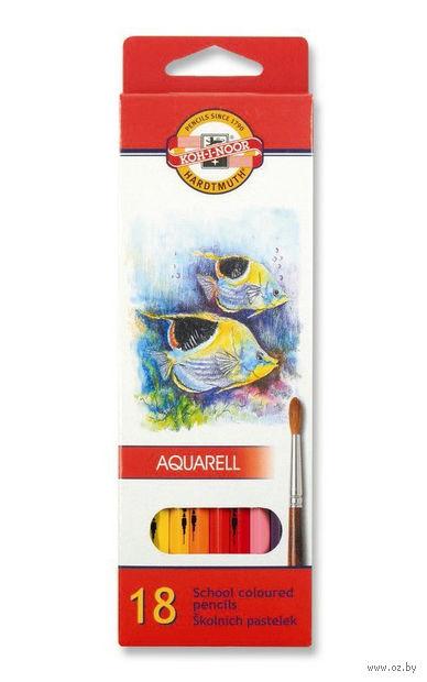 Набор карандашей цветных акварельных (18 цветов)