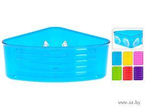 Полка для ванной угловая пластмассовая на присосках (18х18х8,5 см; арт. 170414730)