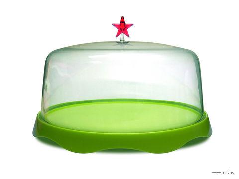"""Подставка для торта подарочная """"Merry Tray"""" (большая; зеленая)"""