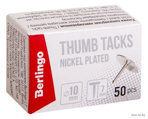 Кнопки канцелярские (50 шт.; никелированные) — фото, картинка