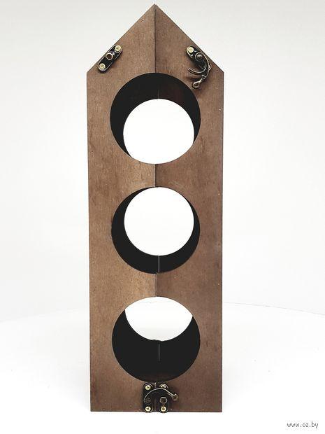 Подставка для бутылок деревянная (120х117х370 мм) — фото, картинка